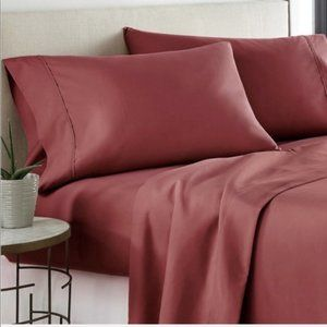 Bamboo Sheets 6 piece set Queen Burgundy